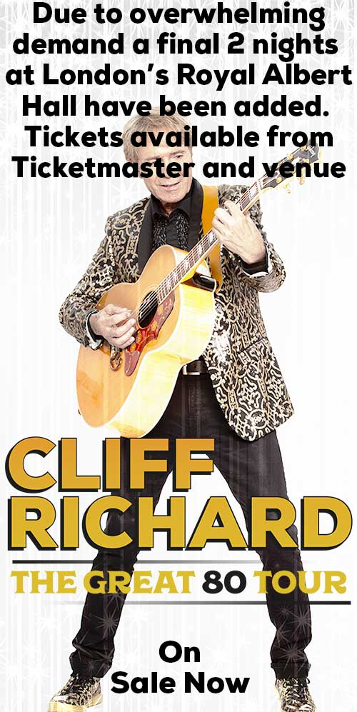 Cliff Richard - The Great 80 Tour - 2020